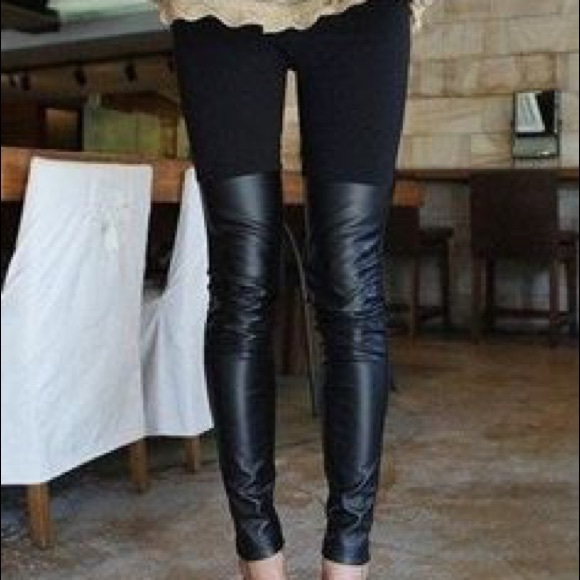 991fd378fb3f7 26% off BCBGeneration Pants - ❌SOLD❌BCBGeneration Half Faux Leather Leggings  from Marie's closet ...