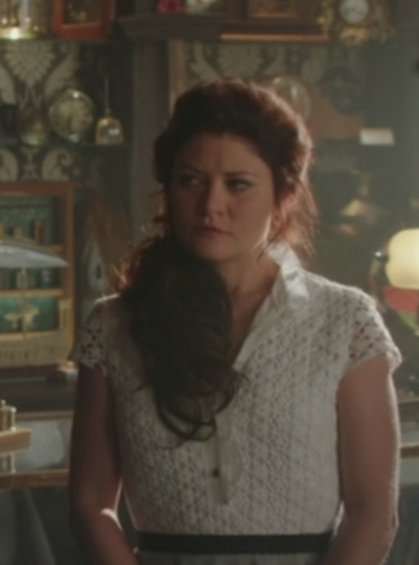 emilie de ravin once upon a time show shirt lace top