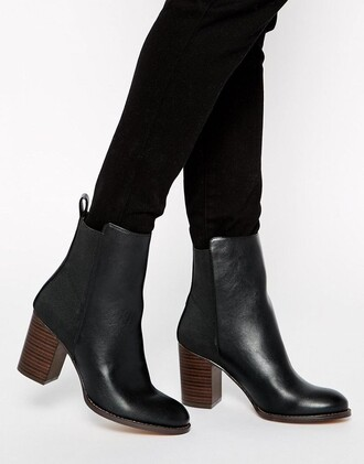 shoes ankle boots chunky heel schwarz black black shoes black ankle boots mid heel boots