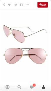 sunglasses,pink,cute,sunwear,sexy,miami,aviator sunglasses,gold,sleek,slim,beach,beachwear,love,rayban,style,fashion,california,glasses,accessories