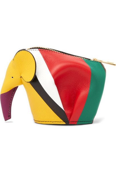 Loewe - Elephant Striped Leather Coin Purse - Red
