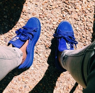 shoes pumas blue sneakers