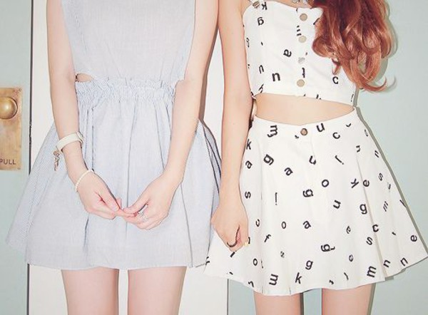 dress vintage hipster blue skirt top crop too crop tops white matching set skater dress