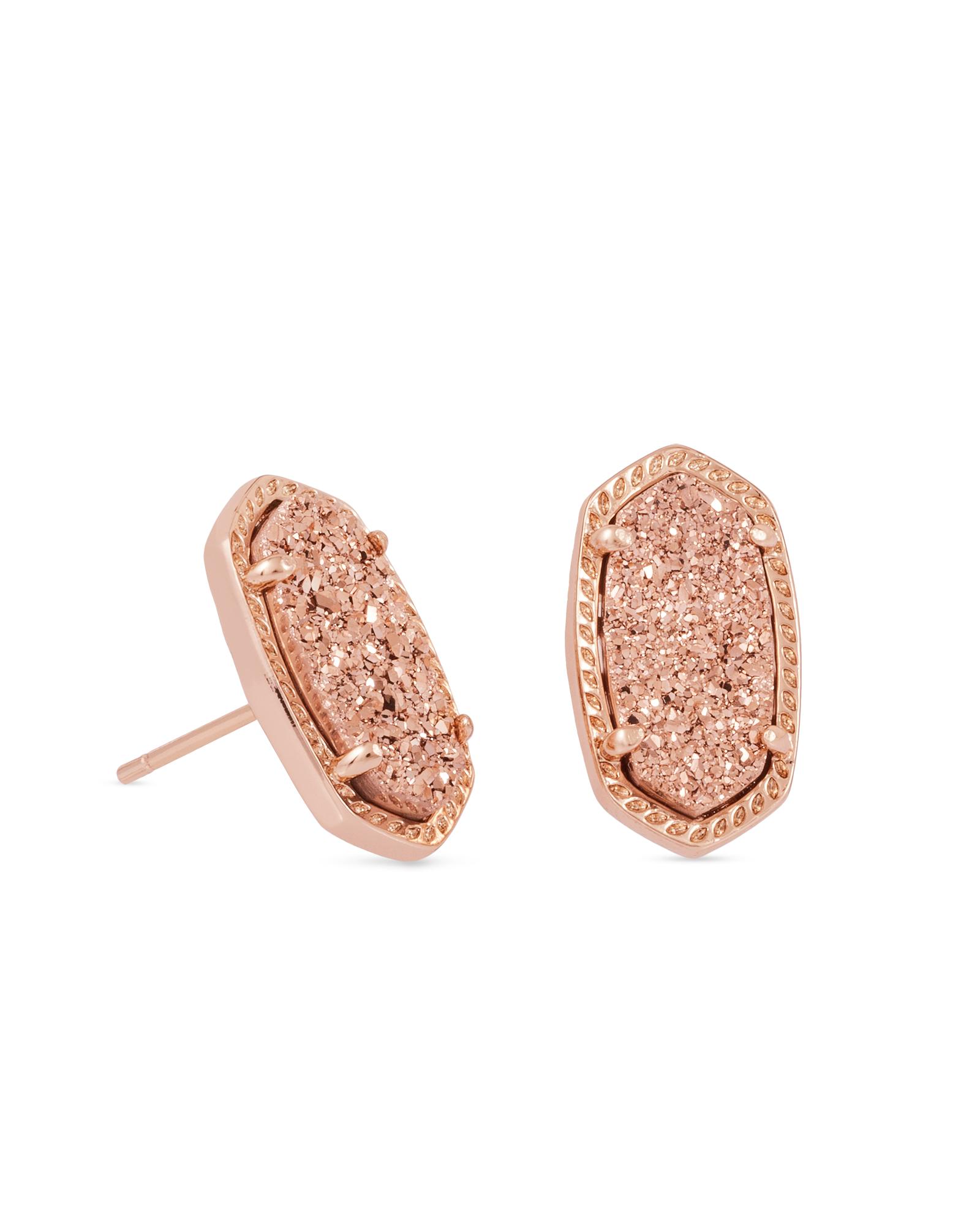 fdf1f6edd1ee Ellie Rose Gold Stud Earrings in Drusy   Kendra Scott