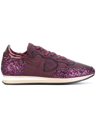 glitter women sneakers lace leather red shoes