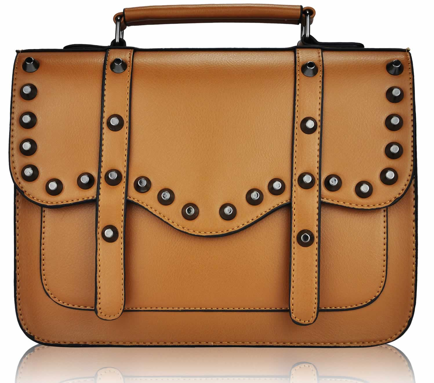 Womens Ladies Designer Studded Satchel LS00280M(1806) | eBay