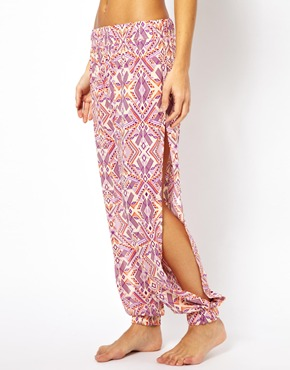 All About Eve | All About Eve Boho Print Beach Trousers With Side Slits at ASOS