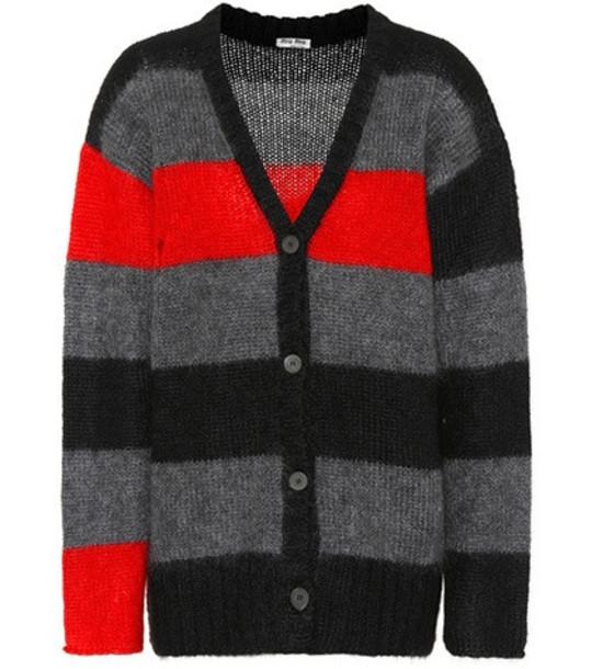 Miu Miu Striped mohair-blend cardigan