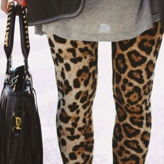 leopard print bold leggings