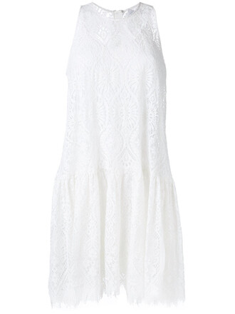 dress sheer women white
