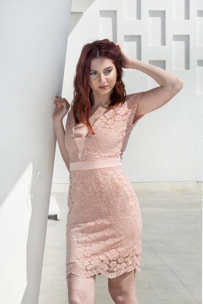 dress elegant pink lace sexy mini photography pastel nightout