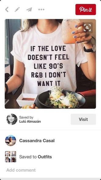 t-shirt white randb white top black letters cute love love quotes 90's shirt 90s style white t-shirt