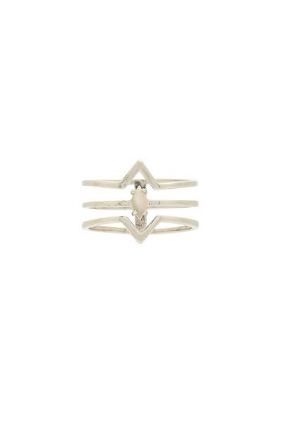 WANDERLUST + CO ring metallic silver jewels