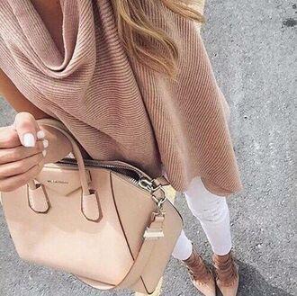 bag blush pink handbag designer bag pink shirt summer top sweater nude cable knit