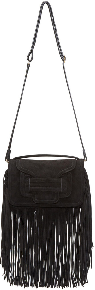 clutch suede black bag