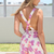 Multi Jump Suits/Rompers - Floral Print Sleeveless Playsuit with | UsTrendy