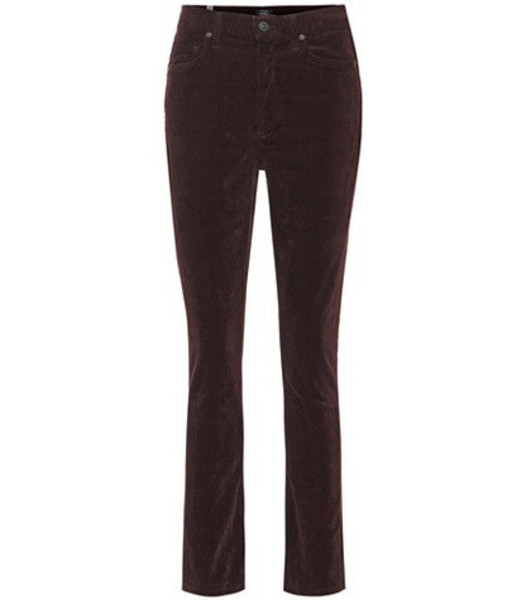 Citizens of Humanity Olivia high-rise corduroy jeans in brown
