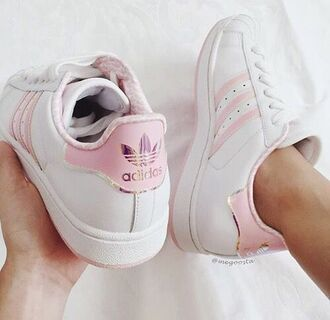 shoes sneakers adidas adidas shoes adidas superstars pink rihanna beautiful classy clothes cute outfit peach menswear girly girl streetwear streetstyle