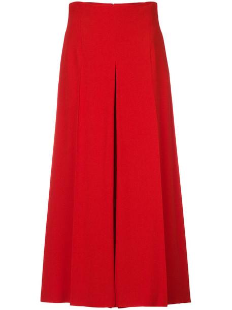 Alexander Mcqueen culottes women classic red pants