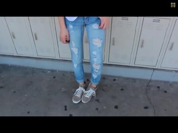 jeans amanda steele ripped jeans