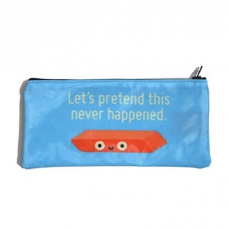 bag pencil case quote on it blue holiday gift back to school