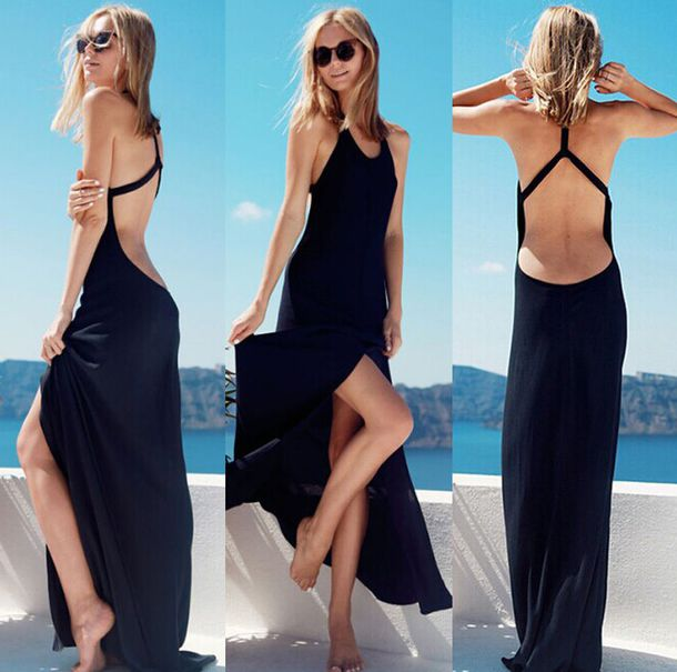 black maxi dress tumblr | Fashion dresses lab