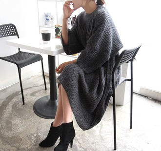 dress sweater dress knitted dress oversized sweater