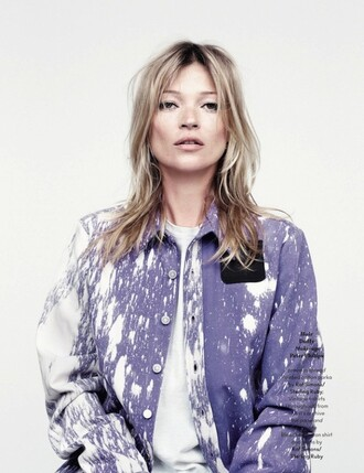 shirt tie dye kate moss acid wash pocket t-shirt