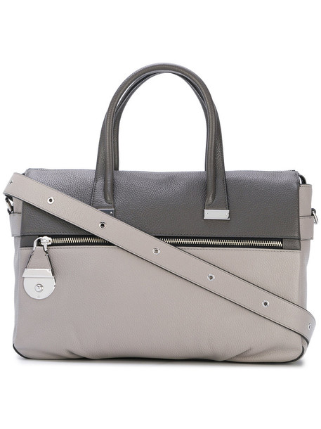 Marc Jacobs - color block tote - women - Calf Leather - One Size, Grey, Calf Leather