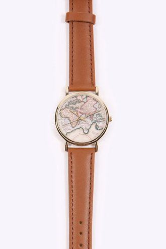 jewels map print watch vintage