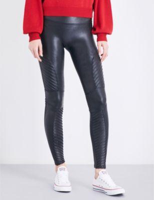 SPANX Moto faux-leather leggings