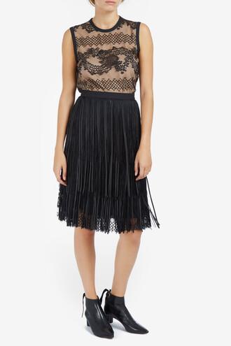 skirt mini skirt mini women lace leather black