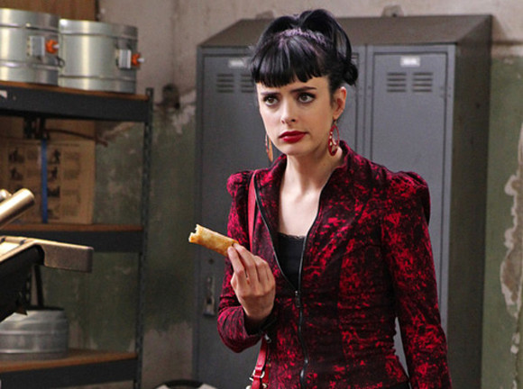 coat chloé krysten ritter don't red red coat dont trust the bitch