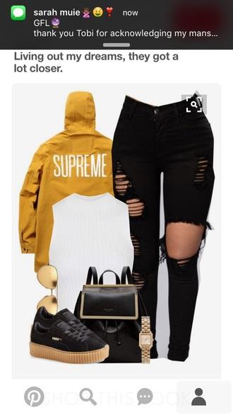 jacket supreme yellow