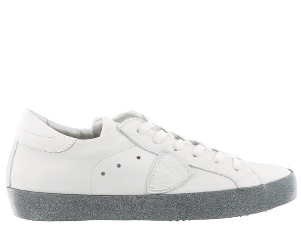 Philippe Model glitter paris sneakers blanc shoes