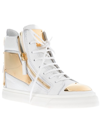 shoes gold white cute swag dope high top sneakers laces zip