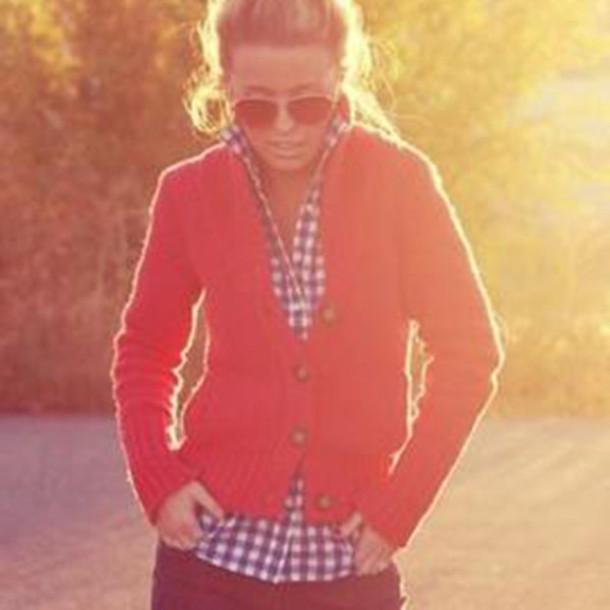 sweater knitted sweater cardigan red cardigan knitwear