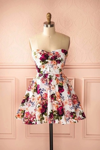 dress flowers 50s style short
