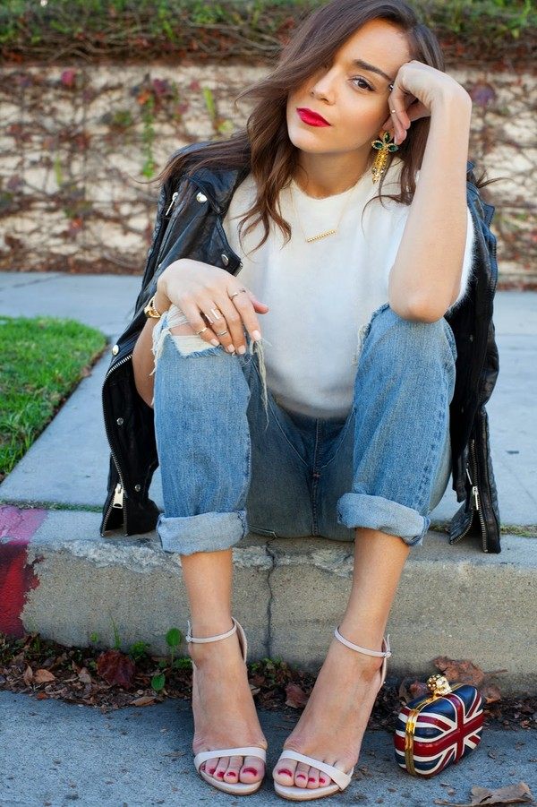 ring my bell jeans sweater shoes jacket bag jewels
