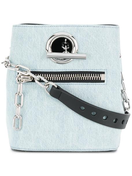 Alexander Wang women bag crossbody bag cotton blue