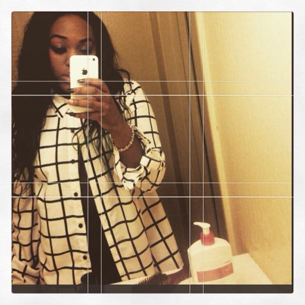 blouse grid grid line top grid top minimalist forever 21 lines top