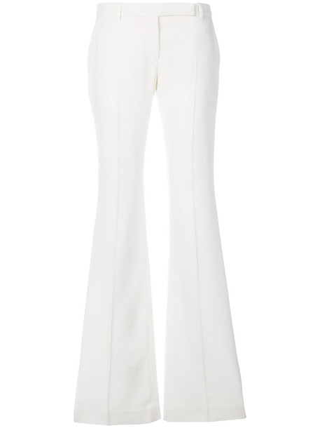 Alexander Mcqueen women white wool pants