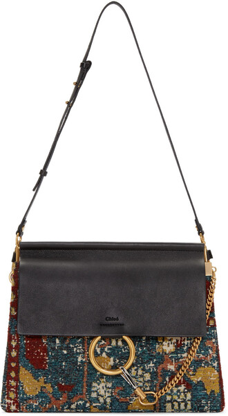 tapestry bag black