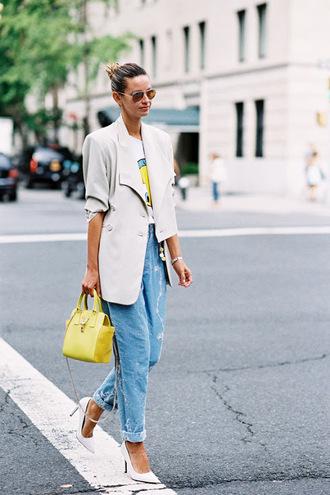 vanessa jackman blogger jacket t-shirt jeans shoes