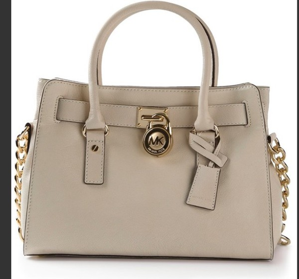 bag michael kors beige handbag chain