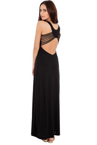 dress summer outfits maxi strappy sassy backless scoop neck