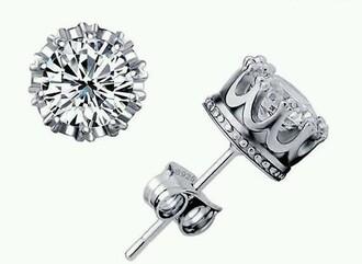 jewels earrings crown earrings