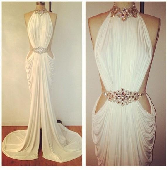 dress wedding dress white dress wedding clothes white lace chiffon sexy evening dress fashion party dress evening gown