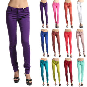 24 31 Colored Ankle Stretch Skinny Jeans Soft Denim Jeggings ...