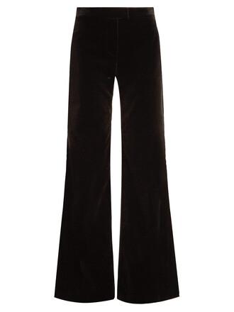 cotton velvet black pants